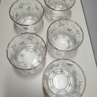 冷茶グラス 5客1組、フキン 3枚組