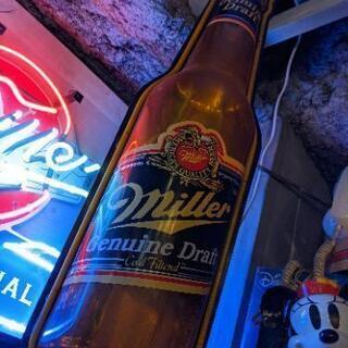 特大 ネオンサイン ネオンボード 看板 販促 インパクト大 ビール ミラー  miller 検 コカ・コーラ Coca-Cola u.s. vintage. coors beer. display neon. インパクト大なネオンディスプレイっ! スイッチあります◎ - 品川区