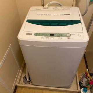 値下げしました!ヤマダ電機全自動洗濯機4.5キロ2019年製