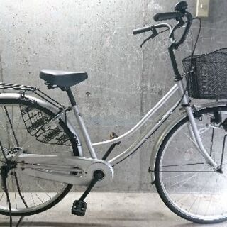 自転車中古 MIMOSA カゴリアキャリア付き 鍵新品 チェーン...