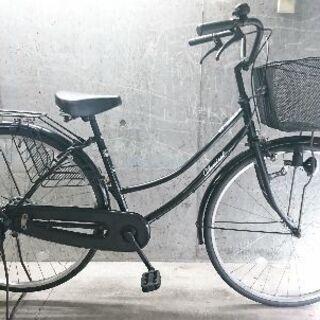 自転車中古 CLASSICAL カゴリアキャリア鍵付き タイヤ2...
