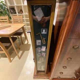 飾り棚 シェルフ フリーラック 棚 オブジェ 茶 アンティーク 中古品