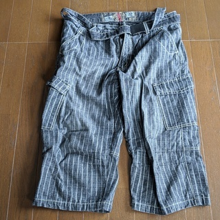 メンズ夏用半ズボン ベルト付き LLサイズ 長さ70cm
