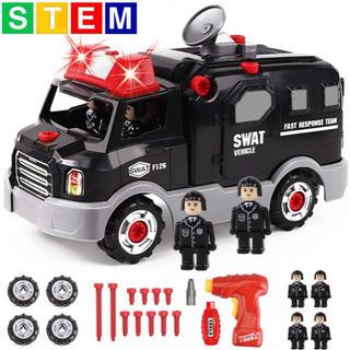 GILOBABY 組み立ておもちゃ DIY 車セット 警察の車 模型