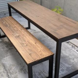 【集成材】ダイニングテーブル&ベンチセット