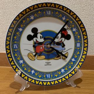 ミッキーマウス プレミアム陶器製絵皿時計