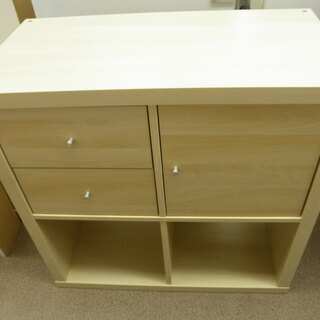 イケア IKEA シェルフユニット 収納棚 収納ラック 木製 ナ...