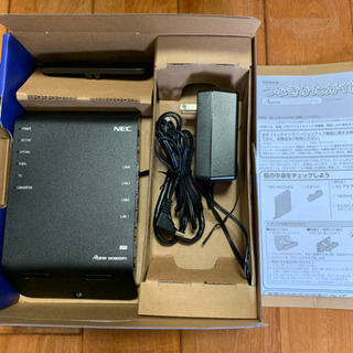 【美品】NEC無線LAN WiFiルーターAterm WG180...