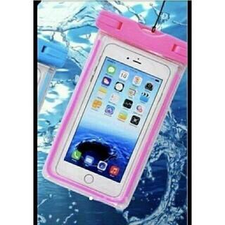 【新品未使用】スマホ防水ケース 高防水性 PVC素材 ピンク