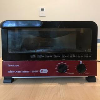 コイズミ ワイドオーブントースター 1200W