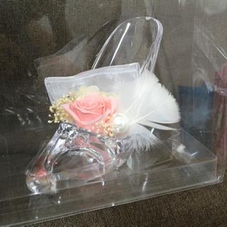 ミッキーミニーぬいぐるみペア&ガラスの靴(電報ギフト)