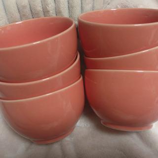 ピンクのスープ皿6個 早い物勝ち!