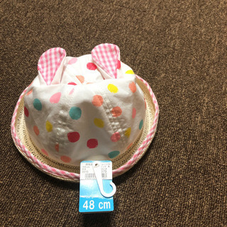 ウサギの耳付き水玉帽子 ベビー 赤ちゃん 幼児 子供 キッズ