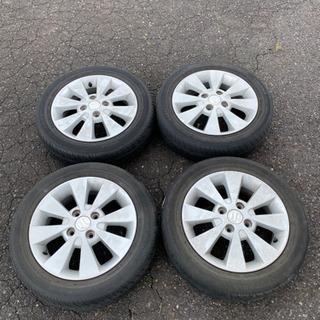 スズキ純正アルミ4本セット タイヤは要交換 155/65/…