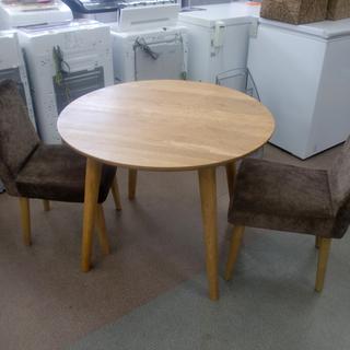 円形ダイニングテーブルセット 直径90㎝  食卓テーブル …