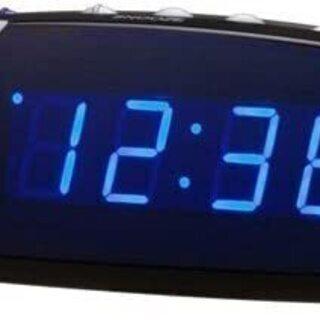 LANDEX(ランデックス) デジタル目覚まし時計 クールス ブルーLED表示 ブラック YT5023BK - 新宿区