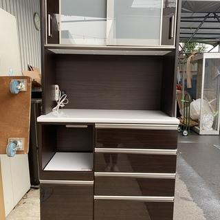 レンジボード ニトリ 茶 大容量収納 収納棚 中古品