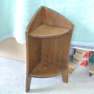 レトロ 木製 コーナーテーブル 花台 飾り台 サイド ちょっとし...