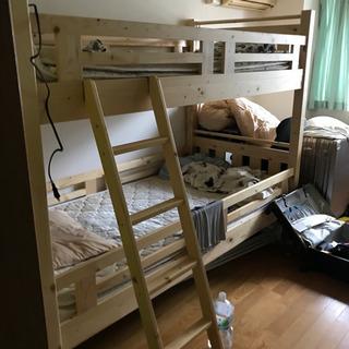 二段ベッド(木)値下げ