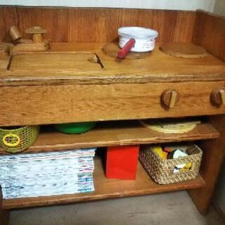 木製ままごとキッチン 大型