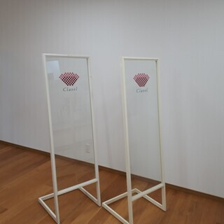 ◆強ガラスのウエルカムカンバン2台セット(オーダー品)◆