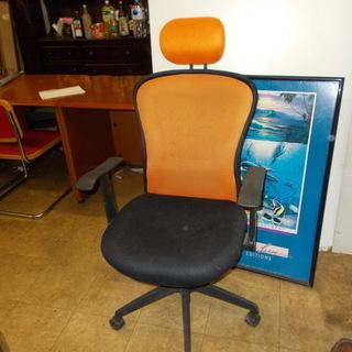 背面メッシュ デスクチェア  椅子