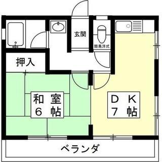 🉐岐阜市1DK33㎡引越し補助金3万円&初期費用10万以下!バス...