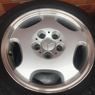 メルセデスベンツ W210純正アルミホイール&スタッドレス4本セット