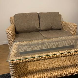 ウォーターヒヤシンス ソファーテーブルセット