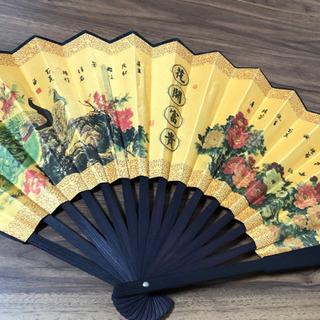 中国風 扇子 折り畳み式 天然竹