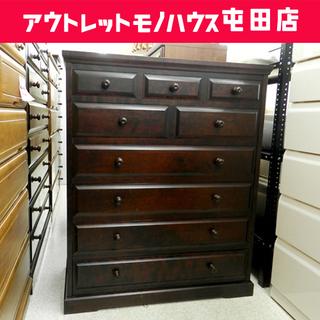 北海道民芸家具 カバ材 6段チェスト 整理タンス 箪笥 収納 和...
