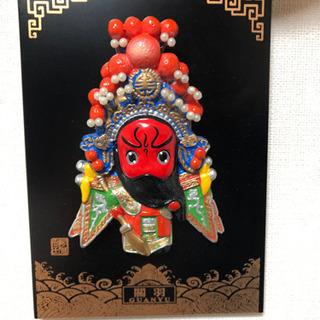 【芸術品】中国古典人物の飾り物 スタンド付き 関羽