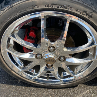 TRANSメッキアルミホイール&タイヤの4本セット
