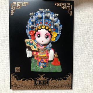 【芸術品】中国古典人物の飾り物 スタンド付き楊貴妃