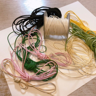 【無料】ハンドメイド用フェイクレザーの紐、各色あります【上…