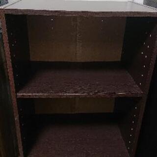 ニトリ カラーボックス 本棚 ブラウン