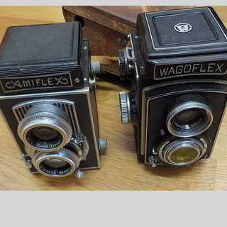 レトロ 2眼レフカメラ 2台 ジャンク品