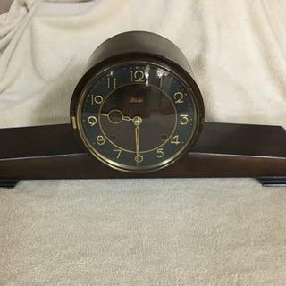 明治時計 値下げ 日の出型置時計 昭和レトロ