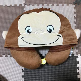 おさるのジョージ帽子付きまくら?新品 - 函館市