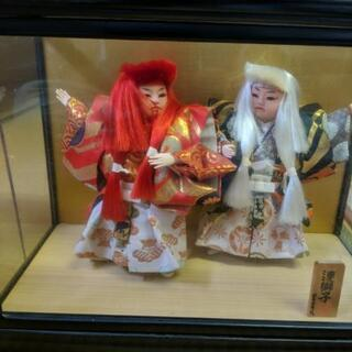 古い歌舞伎人形 連獅子 差し上げます!