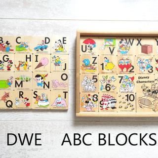 USED【DWE】ディズニー英語システム 木製 ABC ブロック...