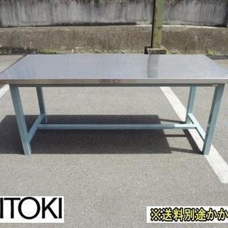 【中古】作業台 木製天板ステンレス張り イトーキ 幅1800mm...