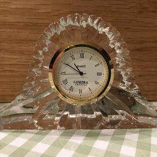 CATHEDRAL クリスタル 置時計
