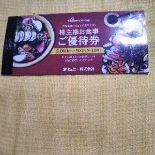 チムニー系列のお店で使える優待券