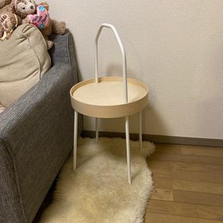白 簡易サイドテーブル