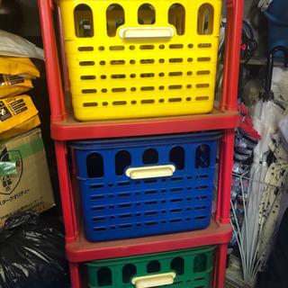 【無料】おもちゃ箱 大容量の三段 収納ケース ‼️