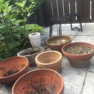 植木鉢とプランター置き