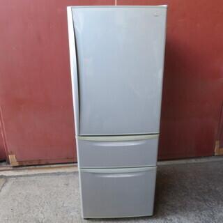 【動作確認済】ナショナル 自動製氷付き 3ドア冷凍冷蔵庫 NR-...