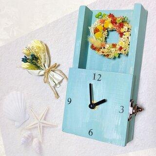 2種類飾れるドライフラワー時計