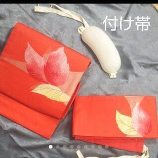 👘  付け帯 作り帯 ★ 名古屋帯 未使用保管品 帯枕付き
